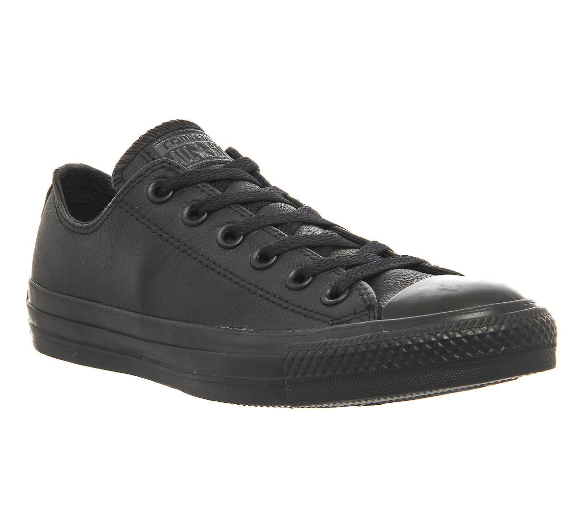 black leather converse low