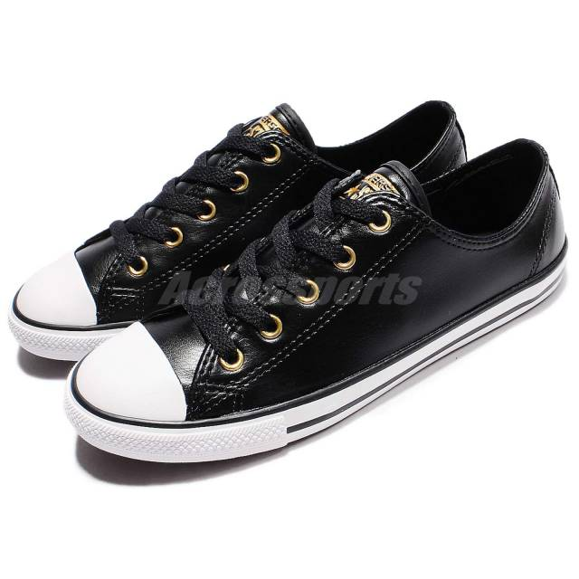 Converse Chuck Taylor Dainty Womens Black Mono Leather